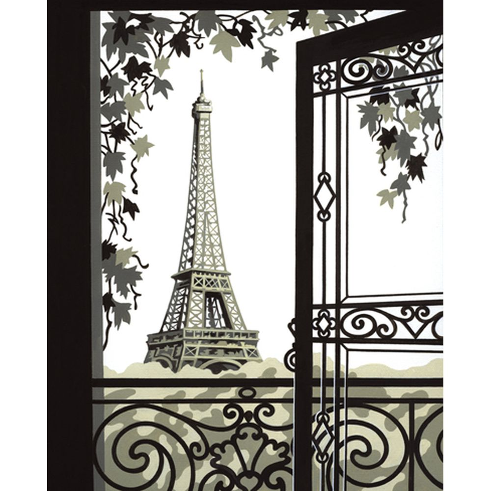 malen nach zahlen auf leinwand paris eiffelturm ebay. Black Bedroom Furniture Sets. Home Design Ideas