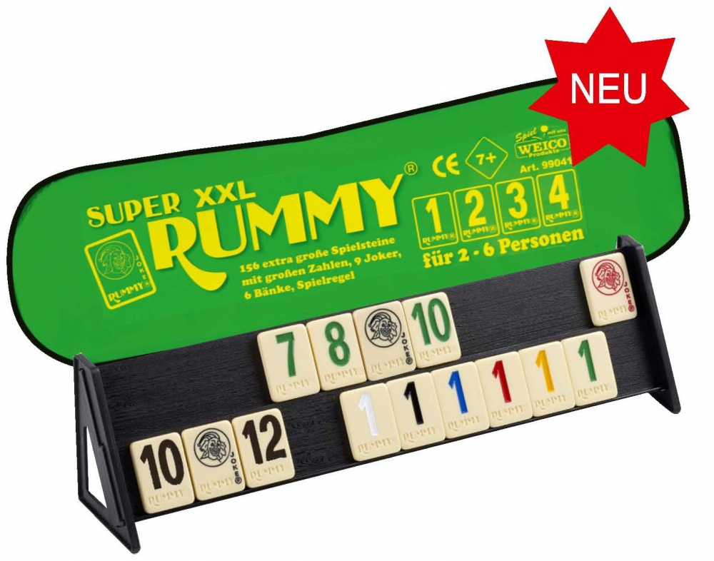 weico super xxl rummy rummikub mit extra gro en zahlen sk spielwaren. Black Bedroom Furniture Sets. Home Design Ideas