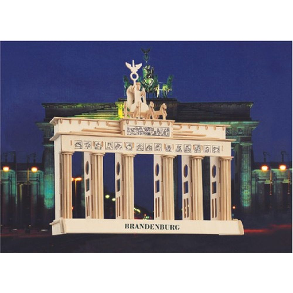 holzbausatz berlin brandenburger tor 3d puzzle ebay. Black Bedroom Furniture Sets. Home Design Ideas