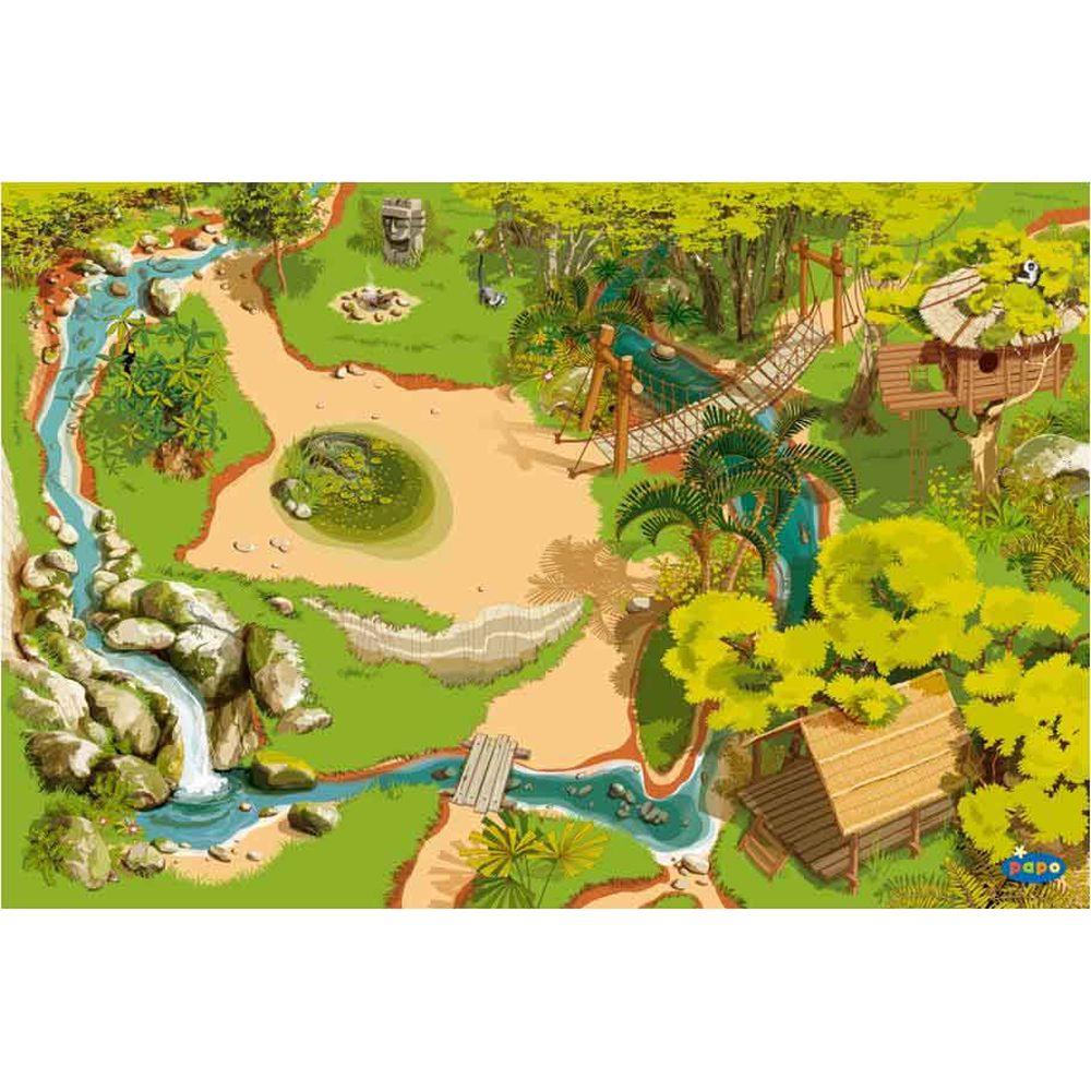 Papo  60503  Spielteppich  Wildtiere Teppich Dschungel