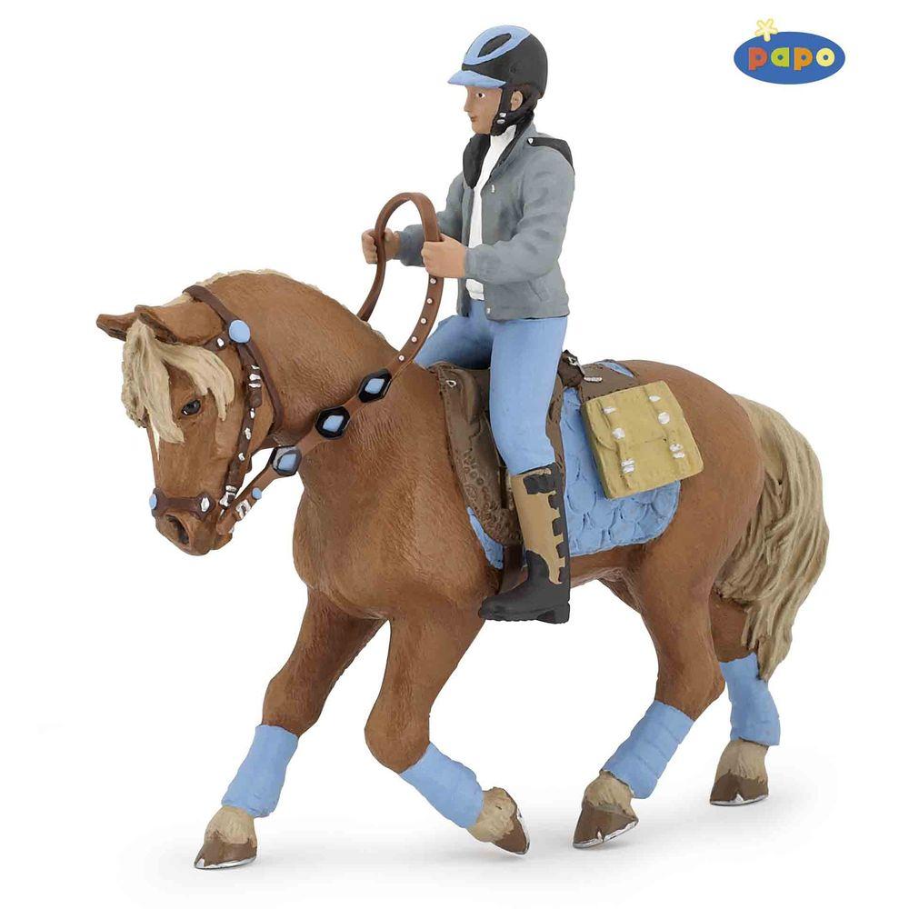 Papo 52008 Pferdewelt Junger Reiter Sk Spielwaren