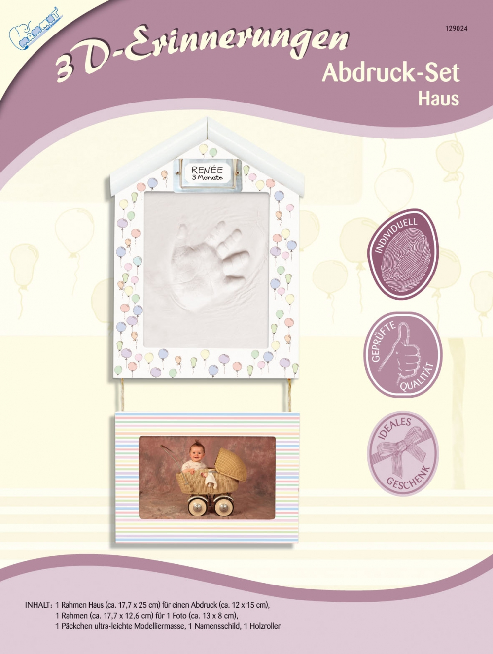 3D Erinnerungen - Abdruck-Set Haus SK-Spielwaren