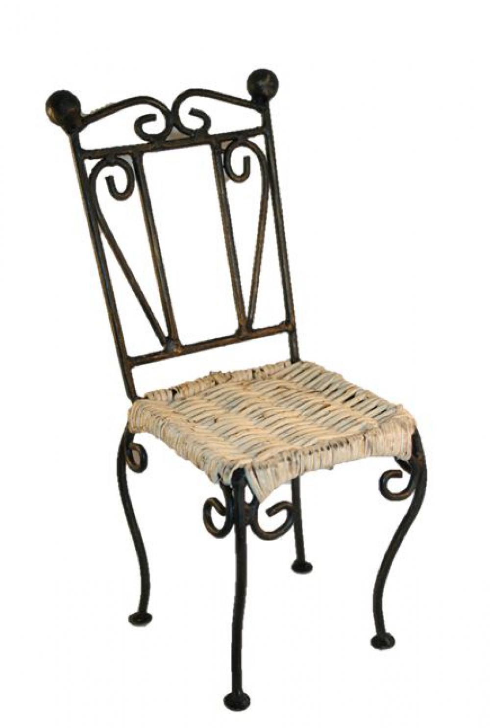 gartenstuhl eisen rattan 20cm sk spielwaren. Black Bedroom Furniture Sets. Home Design Ideas
