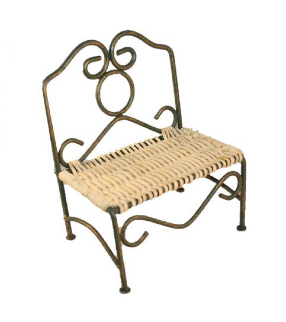 gartenbank eisen rattan 12 5cm sk spielwaren. Black Bedroom Furniture Sets. Home Design Ideas