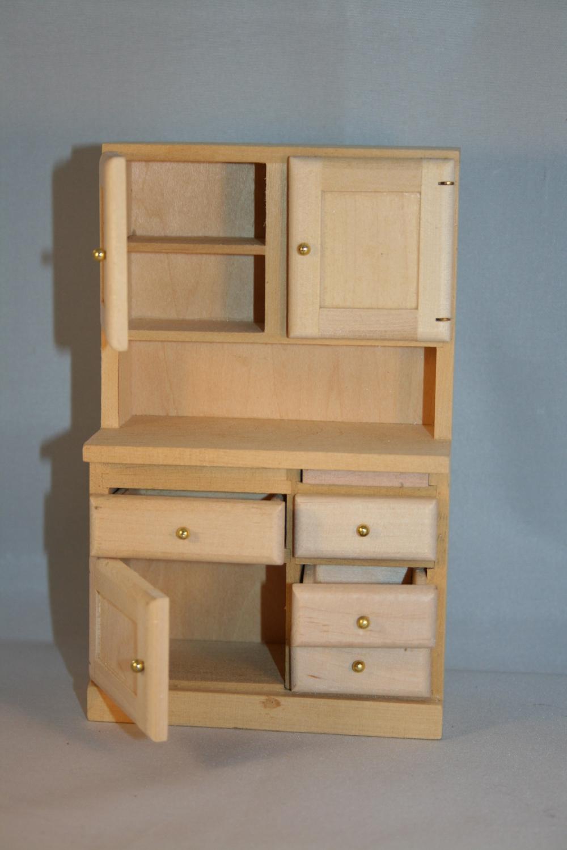 Esstisch Puppenstube ~ Puppenstube Miniatur  Küche Holz natur 7teilig 112  eBay