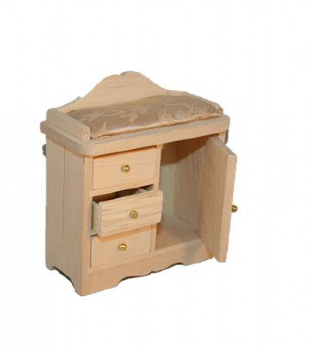 wickelkommode wickeltisch holz natur mit auflage beige sk spielwaren. Black Bedroom Furniture Sets. Home Design Ideas