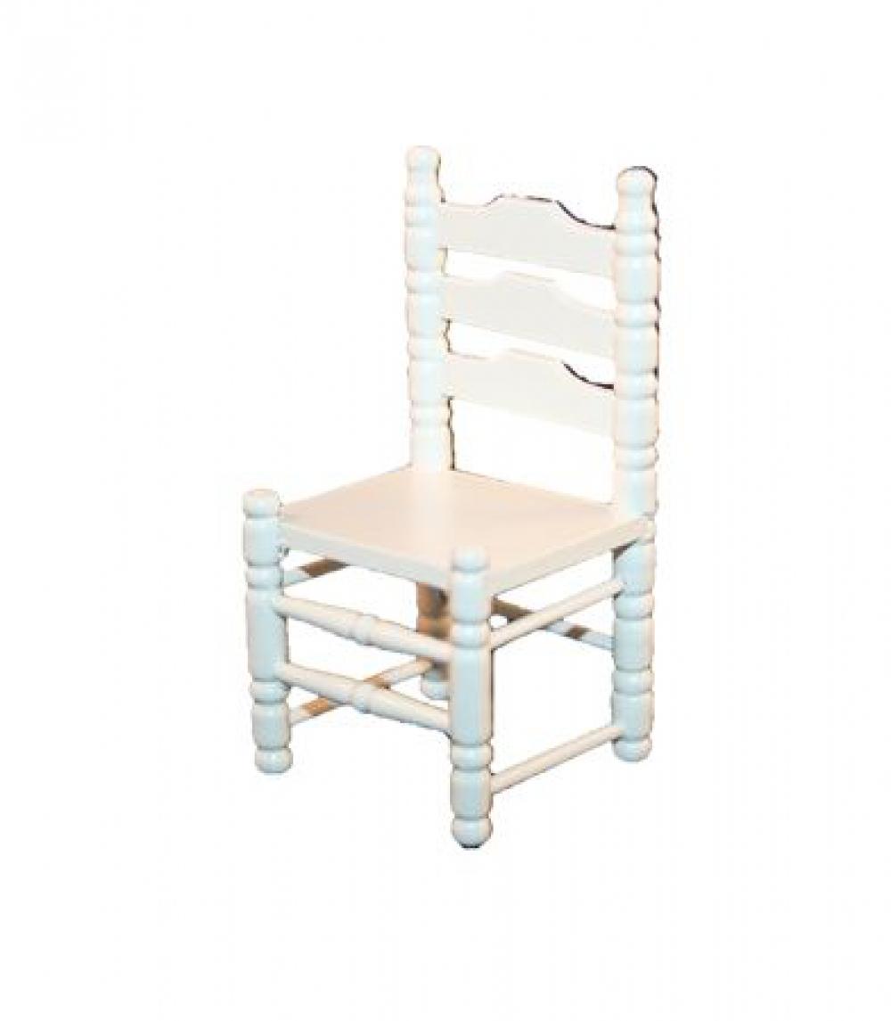 holzstuhl 4x8cm wei lackiert sk spielwaren. Black Bedroom Furniture Sets. Home Design Ideas