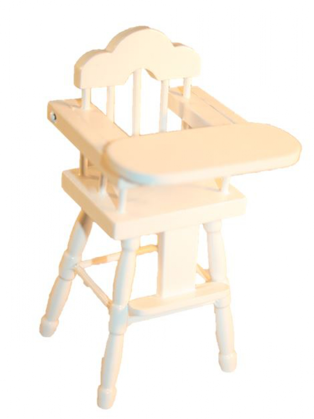 kinderstuhl hochstuhl wei lackiert 1 12 sk spielwaren. Black Bedroom Furniture Sets. Home Design Ideas