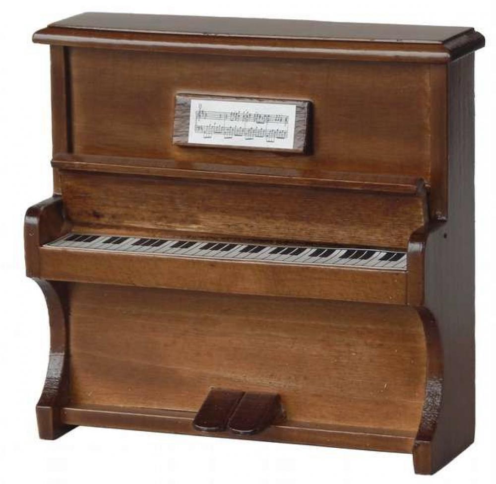 puppenstube miniatur klavier antikbraun mit deckel ebay. Black Bedroom Furniture Sets. Home Design Ideas