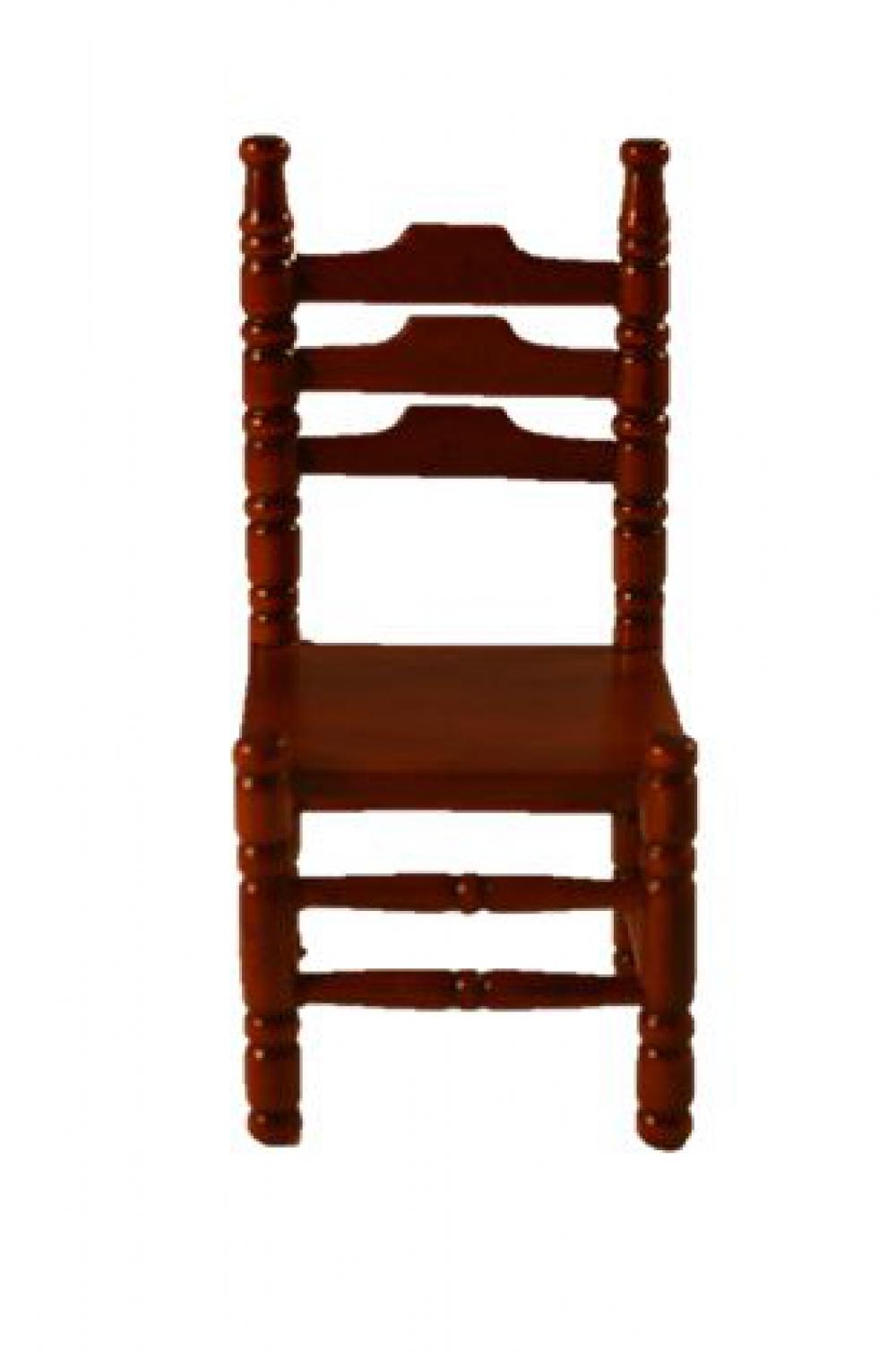 puppenstuhl holzstuhl 4x8cm mahagoni ebay. Black Bedroom Furniture Sets. Home Design Ideas