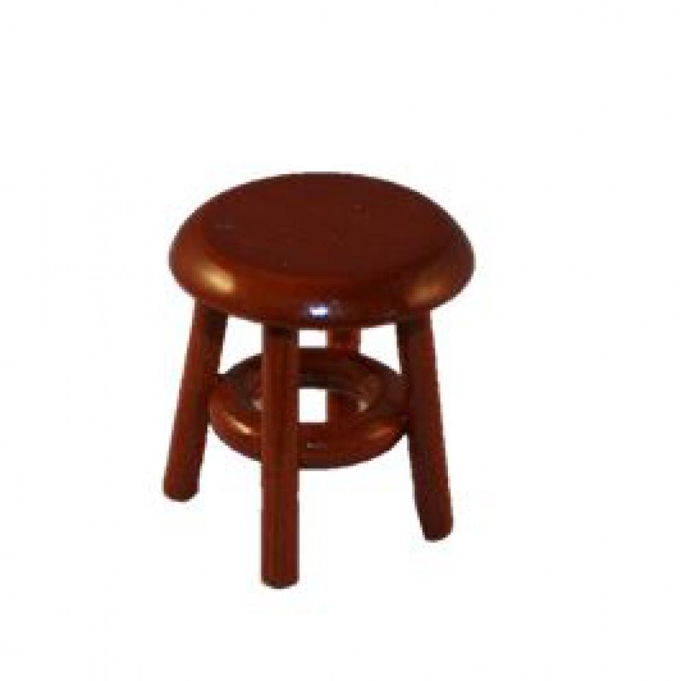 puppenstube miniatur holzhocker mahagoni. Black Bedroom Furniture Sets. Home Design Ideas