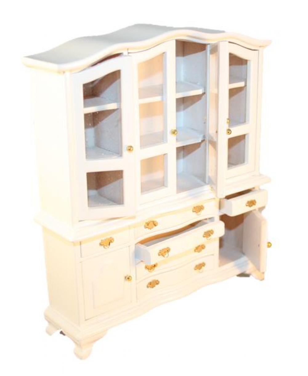 puppenstube b ffet esszimmer speisezimmer schrank holz wei lackiert 1 12 ebay. Black Bedroom Furniture Sets. Home Design Ideas