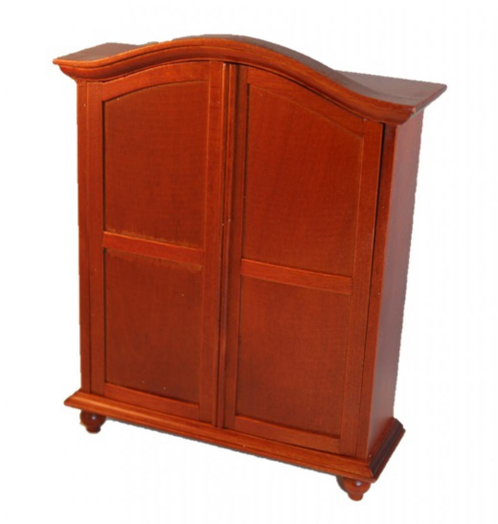 kleiderschrank holz mahagoni 16cm 1 12 sk spielwaren. Black Bedroom Furniture Sets. Home Design Ideas