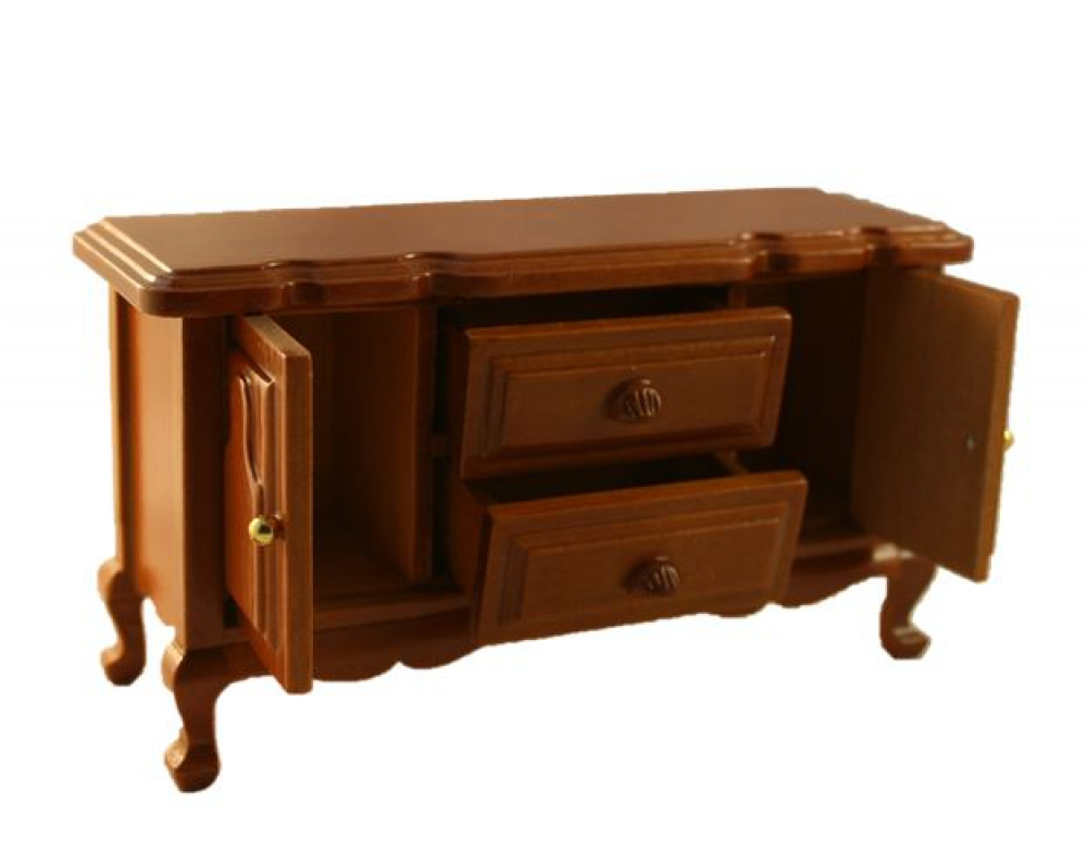puppenstube miniatur esszimmer sideboard holz mahagoni 1. Black Bedroom Furniture Sets. Home Design Ideas